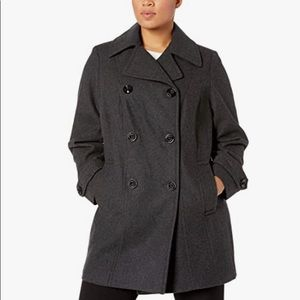 Anne Klein double breasted wool coat size 3X